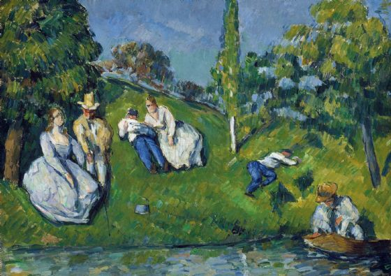 Cezanne, Paul: The Pond. Fine Art Print/Poster. Sizes: A4/A3/A2/A1 (004235)